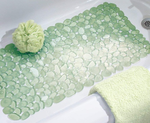 InterDesign Non Slip Pebblz Bath Mat