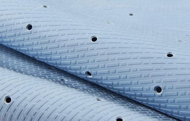 Natural Rubber Non Slip Mildew resistant bath mat