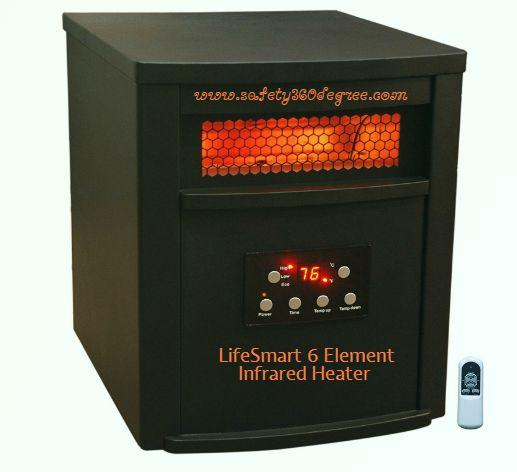 LifeSmart 6 Element Infrared Heater