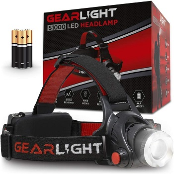 GearLight LED Headlamp Flashlight S1000