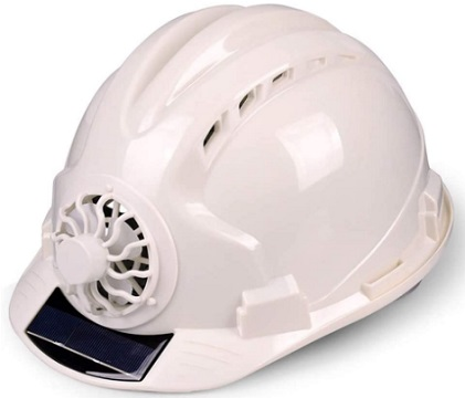 Fayle Safety Helmet with Solar Powered Cooling