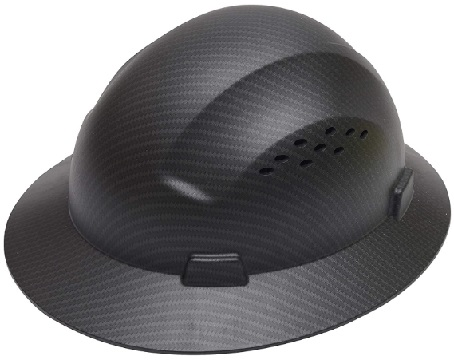 CJ Safety Full Brim Vented Hard Hat with Fas-Trac Suspension