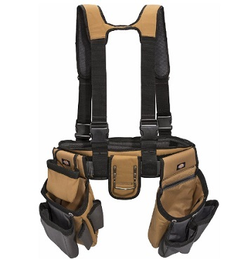 Dickies 4-Piece Carpenter's Rig, Padded Tool Belt Suspenders