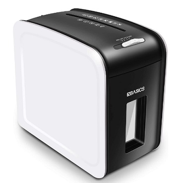 EZBASICS 5-Sheet Cross-Cut Paper and Credit Card Shredding Machine for Paper with Pullout Basket