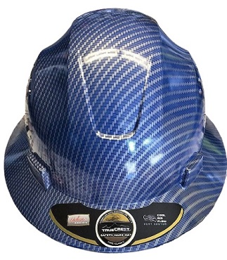 HDPE Hydro Dipped Blue Full Brim Hard Hat