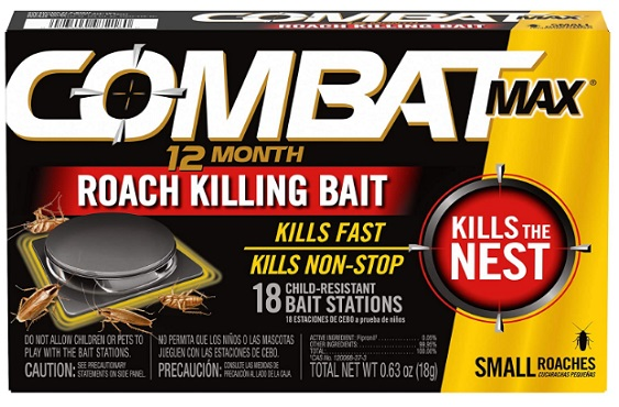 Combat Max 12 Month Roach Killing Bait, how to get rid of roaches overnight