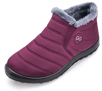 Harence Winter Snow boot for Womens Waterproof Walking Shoes For Travel