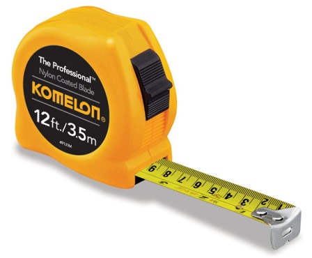 Komelon 4912IM - how to read a tape measure