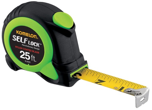 Komelon SL2825 Self Lock 25-Foot Power Tape