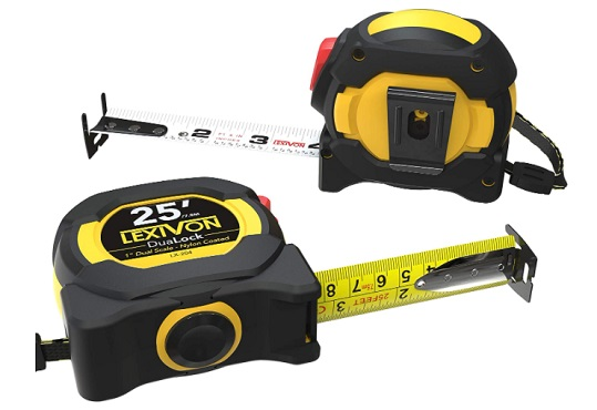 LEXIVON [2-Pack] 25Ft/7.5m - how to read a tape measure