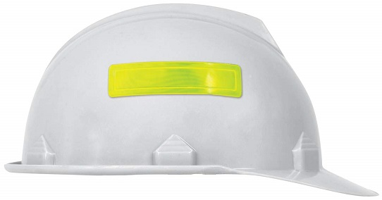 Accuform LHR104GNYL Adhesive Vinyl Retro-Reflective Hard Hat