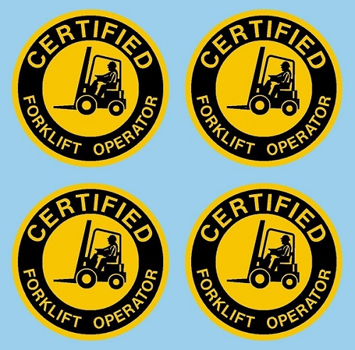 Certified Forklift Operator, 2 inch Circle 4 Pack