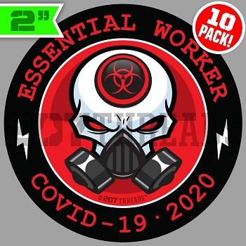 Essential Worker Stickers Hard Hat