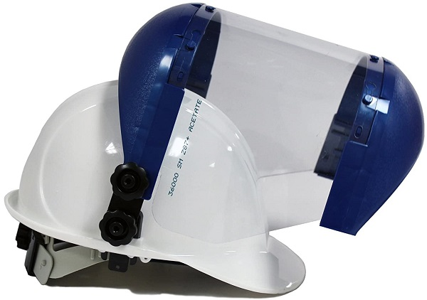 Face Shield with Universal Hard Hat Slot Adapter