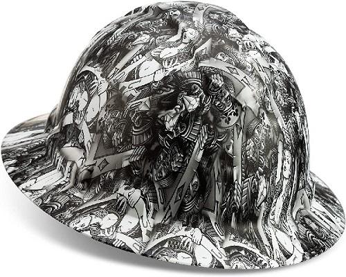 Full Brim Customized Ridgeline White Women's Hard Hats