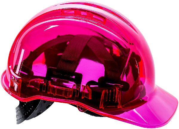 twest PV50 Peak View Protective Vented Pink Hard Hats
