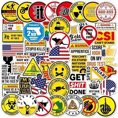 Wsnyy Big 50 PCS Hard Hat Stickers