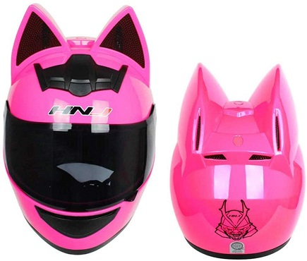 Full Face Motorcycle Street Helmet Women Cat Helmet