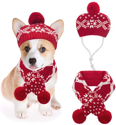 Mihachi Christmas Dog Costumes Hat