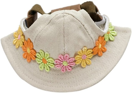 ROSENICE small pet dog sun Hats With Ear Holes