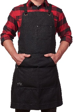 Hudson Durable Goods - Heavy Duty Waxed Canvas Work Apron – Black
