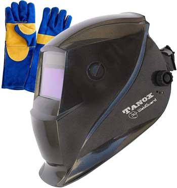 Tanox Auto Darkening Solar Powered Welding Helmet ADF-206S Shade Lens