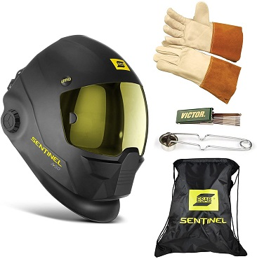 ESAB Sentinel A50 Automatic Helmet, BAG, TIG GLOVE, STRIKER, TIP CLEANER