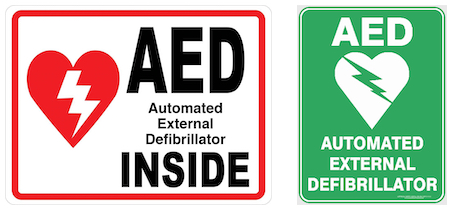 AED Available Inside Signs
