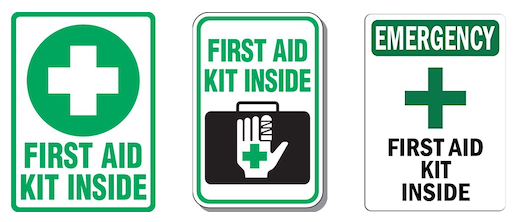 First Aid Kit Inside With Symbol