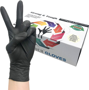 Infi-touch heavy duty nitrile gloves To Protects Hands From Hazardous Chemicals