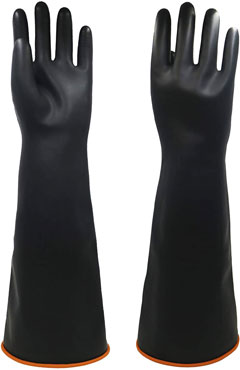 Justseen chemical resistant latex gloves To Protects Hands From Hazardous Chemicals