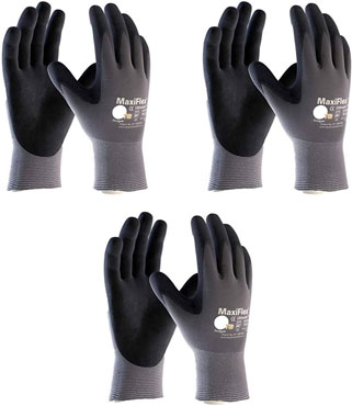 Maxiflex 34-874 Ultimate Nitrile Grip type of gloves to protect yourself from electrical sparks