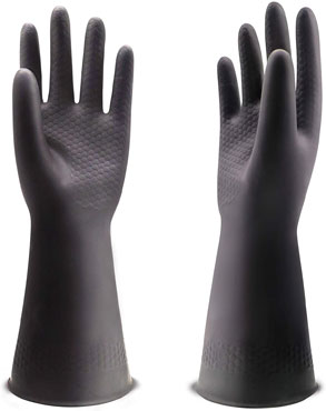 Uxglove chemical resistant latex gloves To Protects Hands From Hazardous Chemicals